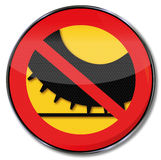 Ban on spikes on car tires stock illustration