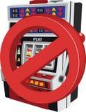 Ban and stop at slot machines Royalty Free Stock Photo