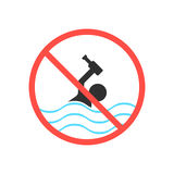 Ban on swimming in a drunken state Royalty Free Stock Photos