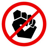 Ban to protest and opposition Royalty Free Stock Photography