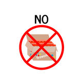 A ban on the use of fireworks. Vector illustration Royalty Free Stock Photos