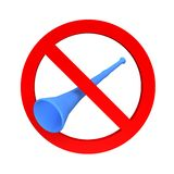 Ban vuvuzela sign Royalty Free Stock Photo