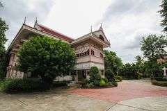 Ban Wongburi historical house in Phrae, Thailand. Beautiful and building royalty free stock photo