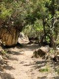 Bana av en gå slinga i Cypern royaltyfri foto