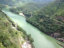 Bana av floden Arkivfoton