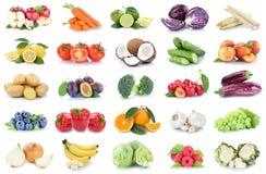Bana de paprika d'oranges de pommes de collection de fruits et légumes Images stock