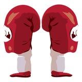 bana för boxningclippinghandskar Arkivfoto