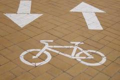 Bana för cirkulering för cykelgränd - materielfoto royaltyfri fotografi