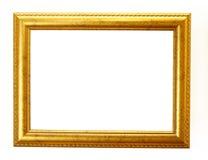 bana för clippingramguld royaltyfria bilder