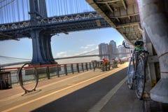Bana för Manhattan strandcykel Arkivfoton