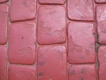 Bana för röd tegelsten arkivbilder