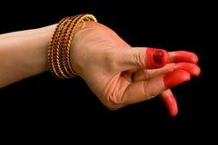 Bana hasta of indian dance Bharata Natyam Royalty Free Stock Images