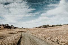 Bana i bergen Fotografering för Bildbyråer