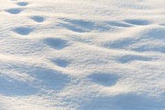 Bana i snö efter snöfall Arkivbild