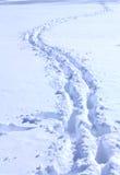 Bana i snow Arkivfoton