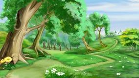 Bana nära skogen Royaltyfria Foton