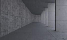 Bana och pelare ut ur betong Arkivbild