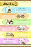 Bana som är design för mall för mästarekatt en infographic med sampl vektor illustrationer
