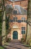 Bana som leder till den Nieuwe kerkkyrkan i Groningen Arkivbild