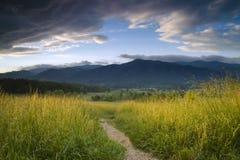 Bana till bergen Fotografering för Bildbyråer