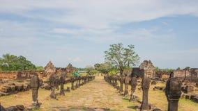 Bana till den VatPhu templet Arkivbild