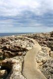 Bana till havet i Mallorca, Spanien Royaltyfri Bild
