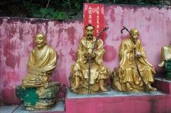Bana till Shatin 10000 Buddha tempel, Hong Kong Arkivfoto