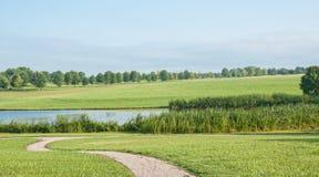 Bana till sjön Fotografering för Bildbyråer