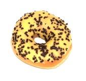 Banaan berijpte doughnut royalty-vrije stock afbeeldingen