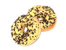 Banaan berijpte doughnut stock fotografie