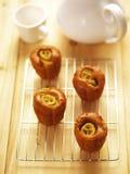 Banaan cupcakes Royalty-vrije Stock Afbeeldingen
