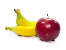 Banaan en appel Royalty-vrije Stock Afbeelding