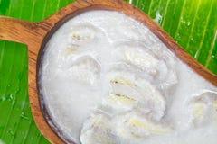 Banaan in kokosmelk Stock Foto's