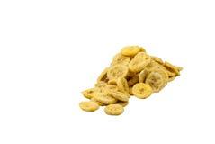 Banaan met banaanspaanders stock afbeelding