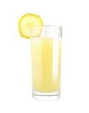 Banaan met melk Vers sap stock foto's
