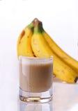 Banaan smoothie Royalty-vrije Stock Afbeeldingen