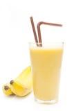 Banaan smoothie in glas Royalty-vrije Stock Foto's