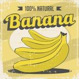 Banaan Uitstekende Retro Signage Vector royalty-vrije illustratie