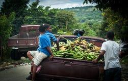 Banaanauto Stock Afbeelding