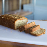 Banaanbrood met Sugar Crumble Royalty-vrije Stock Foto