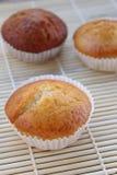 Banaancakes in natuurlijk licht stock afbeelding