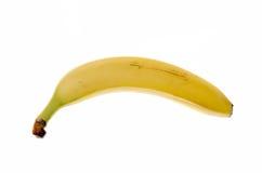 Banaanfruit op een witte achtergrond Stock Afbeeldingen