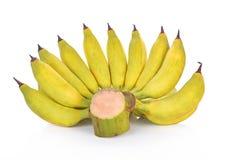 Banaanfruit op witte achtergrond Stock Afbeeldingen