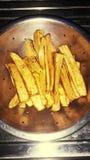 Banaangebraden gerechten royalty-vrije stock foto's