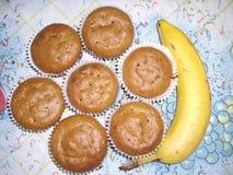 Banaanmuffins Stock Fotografie