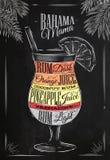 Banama mama cocktail chalk Stock Photography