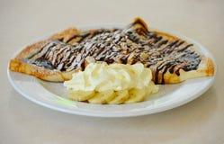 bananów czekolady zakończenia bliny blin Zdjęcie Royalty Free
