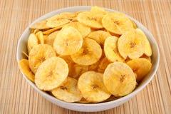 Bananów układy scaleni od Kerala kuchni Obrazy Stock