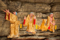 Banan District, Chongqing City, cueva de East River Buda salta océano de cinco paños Fotografía de archivo libre de regalías