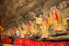Banan District, Chongqing City, cueva de East River Buda salta océano de cinco paños imagen de archivo